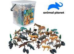 Zvířátka v kbelíku džungle 45 ks s mobilní aplikací