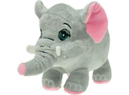 Zvířátko plyšové mluvící 15cm - Slon