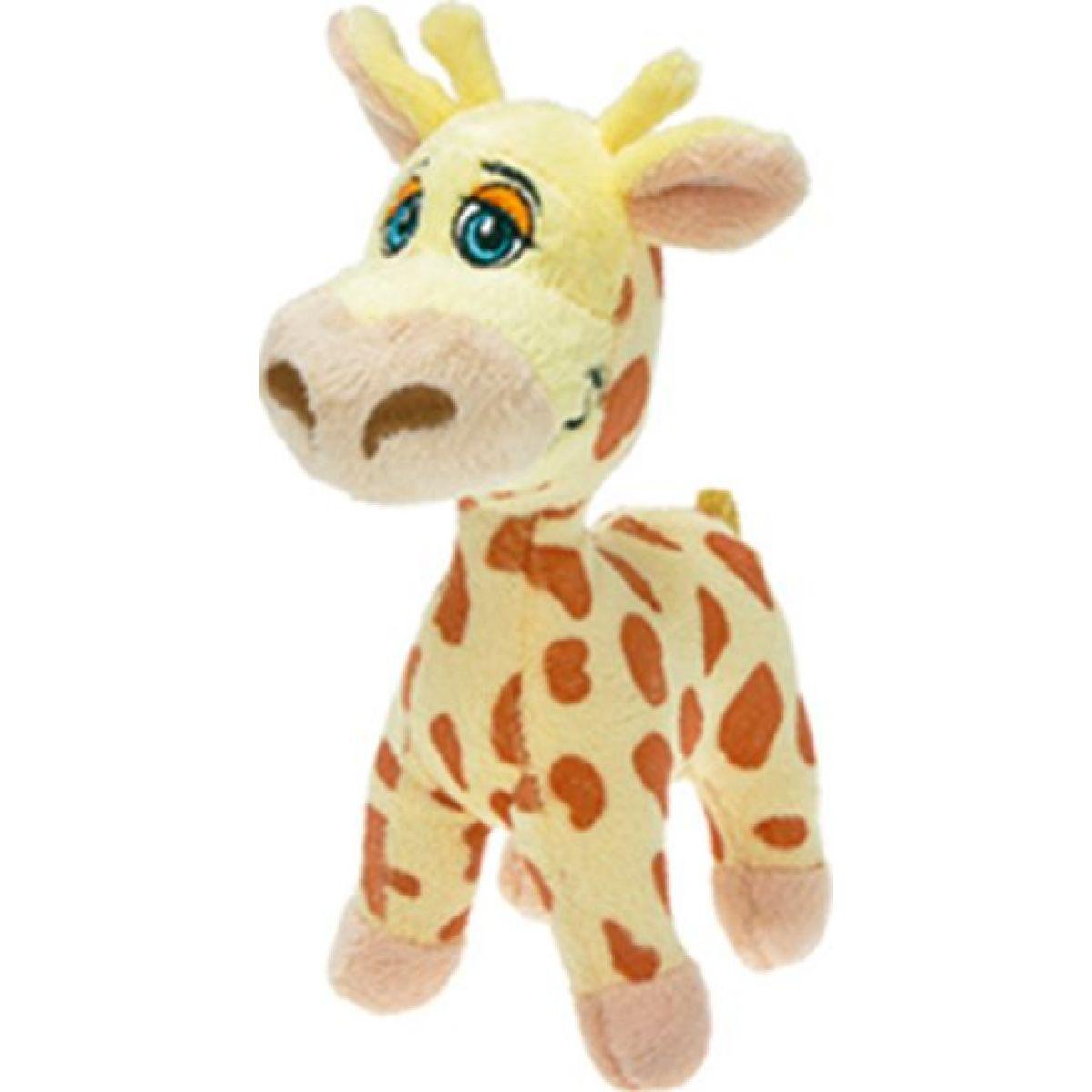 Zvířátko plyšové mluvící 15cm - Žirafa