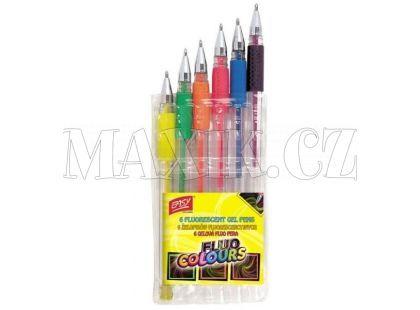 Zvýrazňovací gelová pera Fluo neon 6ks